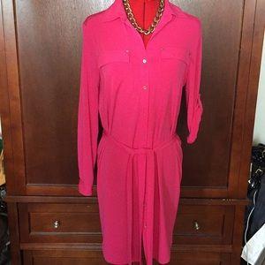 Calvin Klein Dress, versatile sleeves, Size 6